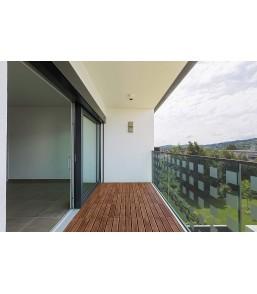 Płytki drewniane na balkon...